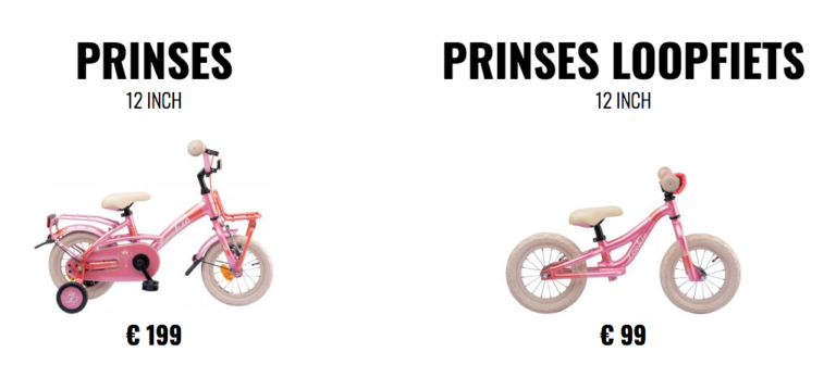 Prinses loopfiets